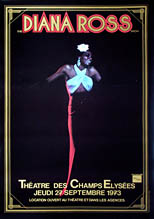 thumbnail link to original Diana Ross 1973 Paris concert poster