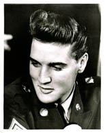 thumbnail link to original 1960 press photo, Elvis Presley 2nd March New Jersey demob press conference