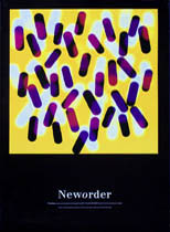 thumbnail link to original 1988 original Factory poster New Order Fine Time yellow version.