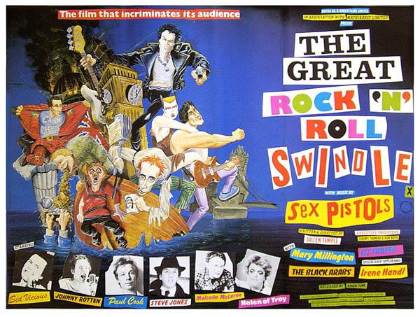 SEX PISTOLS - THE GREAT ROCK'N'ROLL SWINDLE, 1980.