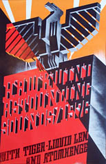 thumbnail link to original 1976 concert poster Hawkwind Astounding Sounds, Amazing Music Barney Bubbles design