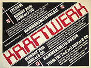 thumbnail link to original Kraftwerk Computer World London tour dates poster 1981 poster