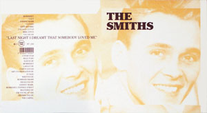 thumbnail link to original 1987 Rough Trade 7 inch sleeve proof The Smiths Last Night I Dreamt.