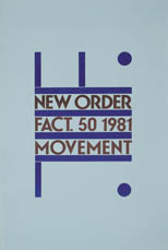 thumbnail link to original New Order Factory Records poster Movement.