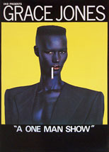 thumbnail link to original 1981 promo poster Grace Jones One Man Show