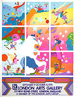thumbnail link to original Peter Max London Arts Gallery Exhibition Poster, 1970