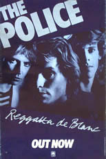 thumbnail link to original 1979 A & M promo poster The Police Regatta de Blanc
