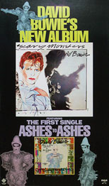 thumbnail link to original David Bowie RCA US poster Scary Monsters.