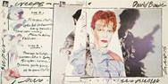 thumbnail link to original David Bowie Scary Monsters in-store larger display flat.