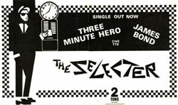 thumbnail link to original 1980 The Selecter Three Minute Hero 2 Tone Records promo poster
