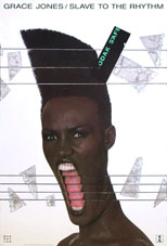 original Grace Jones Island poster Slave to the Rhythm