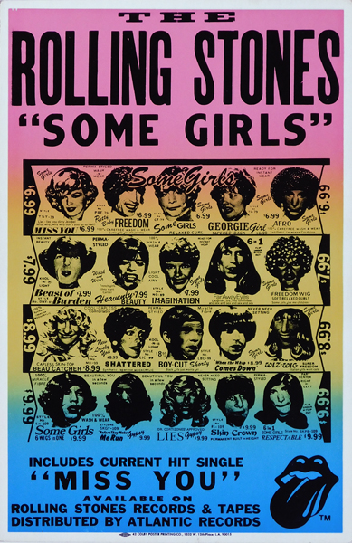 Thumbnail Link To Original Rolling Stones Some Girls Boxing Style Card Poster Unauthorised Artwork Version