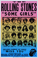 thumbnail link to original Rolling Stones Some Girls boxing style card poster original unauthorised artwork version