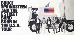 thumbnail link to Bruce Springsteen original Born in the USA tour 1984 poster