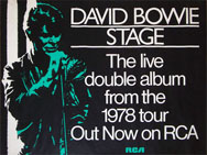 thumbnail link to original David Bowie RCA UK Stage promo poster.