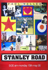 original 1995 large 40 by 60 inch pre-release promo poster for Paul Weller, Stanley Road
