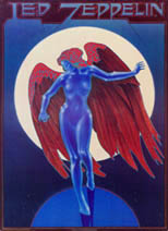 thumbnail link to original 1977 Stanley Mouse Led Zeppelin Blue Angel Portal poster.