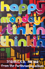thumbnail link to original 1992 Happy Mondays Stinkin Thinkin large format poster.