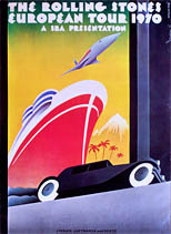 thumbnail link to original Rolling Stones 1970 European Tour poster