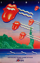 thumbnail link to original Rolling Stones 1981 American Tour poster