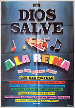 thumbnail link to original 1980 Spanish film poster Sex Pistols The Great Rock'n'Roll Swindle